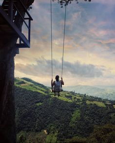 I've seen this swing so many times onlinebut I couldn't even imagine that one day I would go all the way to BañosEcuador to swing over the abyss