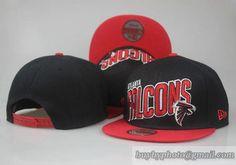 9cd19b540ba NFL Atlanta Falcons 9Fifty Snapback Hats Caps Black Red