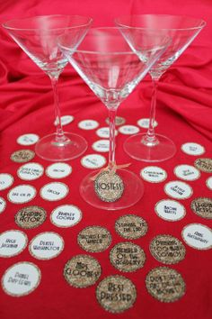 Great idea for Oscar Party- Make Wine Charms!