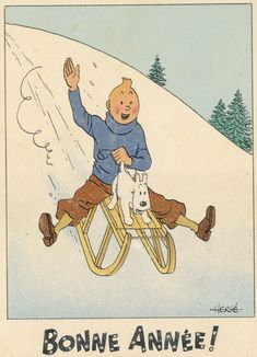 Tintin original drawings by comic strip legend Hergé set to sell for Old Time Christmas, Merry Christmas To All, Christmas Themes, Vintage Christmas, Christmas Cards, Superman, Batman, Card Drawing, Illustrations