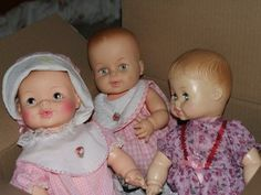 Had dolls similar to these...they are Horsman dolls