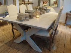 beautiful antique french dining table