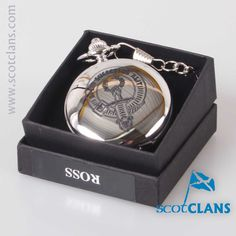 Ross Clan Crest Pocket Watch. Free worldwide shipping available