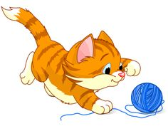 Playful Kitten and Yarn
