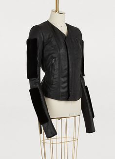 29db7549f615 Fur sleeves leather jacket. Leather Jackets OnlineRick OwensChristian ...
