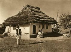 "1933 appeared in Leipzig the photo album ""Romania"" with the signature of the photographer Romania People, Architecture Old, Fairy Houses, Traditional House, Old Photos, Vintage Photos, Countryside, Gazebo, Bali"