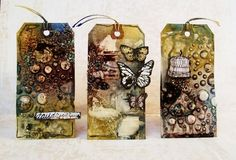 Check out the new Finnabair's Mixed-Media Line: Pastes - these GORGEOUS tags were created by Kasia Krzymiñska using them - see more on the Prima Blog and have the chance to win a sampling too