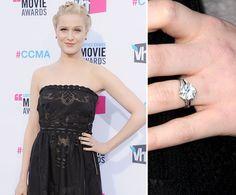 Pin for Later: Die schönsten Eheringe der Stars Evan Rachel Wood Evan Rachel Wood trägt ihren Verlobungsring von Jamie Bell seit Januar 2012.