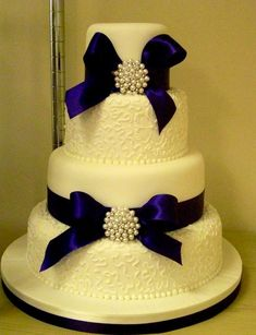 Wedding cake- royal blue.