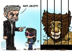 Logan & Laura: the Zoo @RealHughJackman @DafneKeen @WolverineMovie ‍‍♂️Lol#wolverine #x23