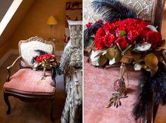 Pariser Hochzeit - inspiriert von Moulin Rouge #Christina_Eduard_Photography #Brautstrauß #Olga_Fischer #Hochzeit #Theater_Inspiration