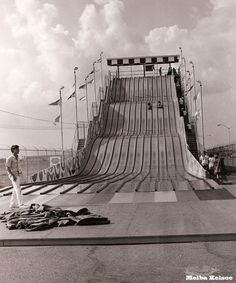They had the huge slide in front of Sharpstown Mall Houston,TX. When I was a kid imagine an amusement at the mall. Now mall's are becoming instinct. This was in the 70's so much fun to be had.