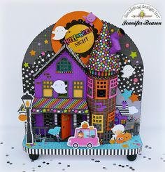 Doodlebug Design Inc Blog: Booville Collection: 3D Halloween Night Display by Jennifer Beason