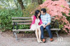 Take a cue from our super sweet engagement session of the day and spend some time in the outdoors with the one you love on this gorgeous spring day :) | George Street Photo & Video