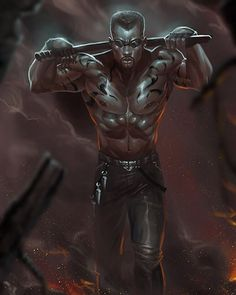 Fan art of #blade of #marvel thanks for looking. More at www.dr-conz.com #mcu…