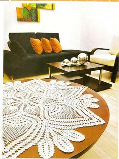 Only crochet patterns and designs: Adorn TABLES Crochet Pillow Pattern, Crochet Bedspread, Crochet Doily Patterns, Crochet Mandala, Crochet Diagram, Thread Crochet, Crochet Motif, Crochet Doilies, Crochet Yarn
