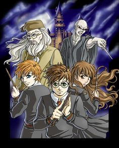 Harry potter anime style XD