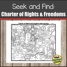 Charter of Rights and Freedoms Activity Matching Worksheets, Picture Search, Freedom, Encouragement, Things To Come, Canada, Chart, Teaching, Activities