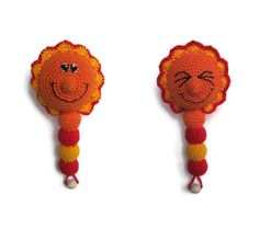 new baby boy gift rattle baby toy Sun smile crochet rattle cute gift new born gift toddler gift teether baby shower toy teething sensory toy
