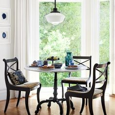 La Coupole Round Iron Bistro Table with Marble Top #williamssonoma