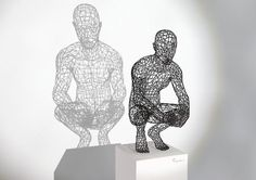 Male Wire Sculpture, by Moto Waganari.