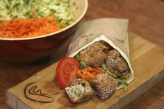 The sicilian-style deep-fried risotto balls are light, creamy and served plain, with salad, in tortilla wraps, or accompanied by a hot stew:  http://www.timeout.com/london/restaurants/arancini-factory