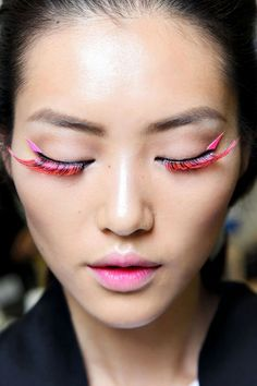 Pink lashes, so dope