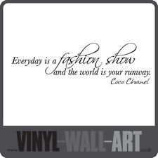 0446 - Coco Chanel Quote - Everyday Is A Fashion Show - Vinyl Wall Art Sticker