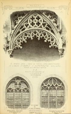 see site - Materials and documents of architecture and sculpture : classified alphabetically -- Published 1915 Architecture Drawings, Classical Architecture, Historical Architecture, Amazing Architecture, Architecture Details, Interior Architecture, Ancient Architecture, Gothic Windows, Church Windows