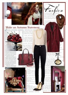 """Alexander McQueen Mini Padlock Zip-Around Satchel Bag, Red/Pink"" by dreamer1983 ❤ liked on Polyvore"