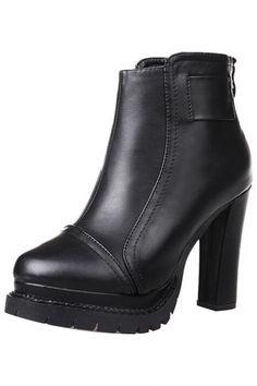 Exquisite Sweet PU High-Heel Ankle Booties - OASAP.com