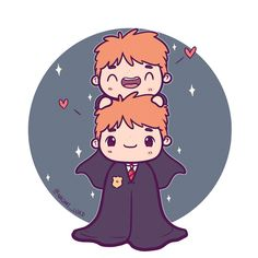 Weasley twins! I definitely think you get the best of the Weasley twins in the books :3 but the movies still did do a great job (definitely better then what they did to Ginny) ✨ #weasleytwins #fredweasley #georgeweasley #cute #kawaii #chibi #weasley #harrypotter #harrypotterart #harrypotterfanart #fantasticbeasts #instaart #instadaily #instaartist #illustration #illustrationoftheday #digitalart #digitalpainting #doodle #art
