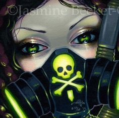 Faces of Faery 219 Jasmine Becket-Griffith art CANVAS PRINT cyberpunk goth fairy