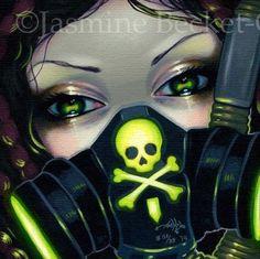 Faces of Faery 219 Jasmine Becket-Griffith art CANVAS PRINT cyberpunk goth fairy