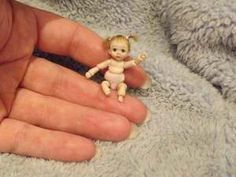 Miniature Handmade Mini Baby Girl Dolly Toy OOAK Dollhouse Art Doll Tiny BJD | eBay