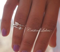 Celebrity Style Midi Arrow Ring Knuckle Ring By by CristineLukas