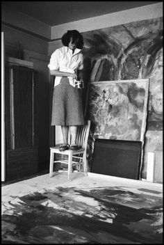Painter Helen NYC FRANKENTHALER  by Burt Glinn 1957