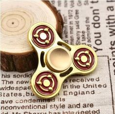 Naruto Triangular Hand Spinner Metal Profession Spinner ADHD Tri Spinner Fidget