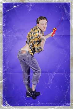 Men Photographed in Stereotypical Pin-Up Poses - Makes you really realize how dumb they make us women look in media..