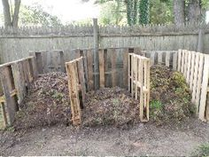 re-designed compost bins using repurposed pallets
