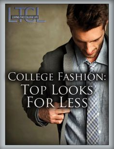 Gentlemen, Look Like a Million Bucks For Less So you're into high fashion. Great! Me too! But you're in college and you would like to have sushi at least once a month. Oh and it would be nice to have cable and shit right? Gotta watch Mad Men. You are in luck because I'm here...