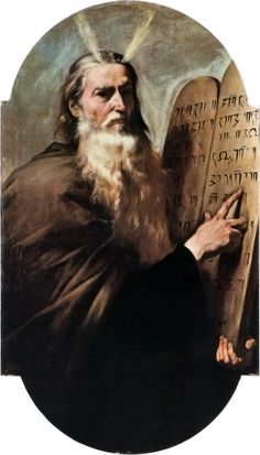 Moses and the tablets of law