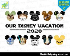 Star Wars Mickey Heads 2020 Disney Vacation Printable Iron On Transfer or Use as Clip Art, DIY Star War Shirt Adult & Child Size Mickey Ears by TheWallabyWay on Etsy Iron On Transfer, Transfer Paper, Disney Diy, Disney Frozen, Disney Vacations, Disney Trips, Disney World Shirts, Mickey Head, Old Shirts