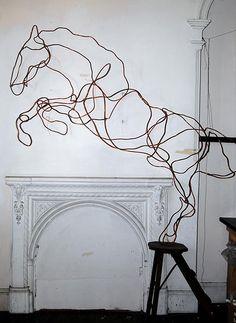 love this metal #horse #sculpture