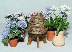 Make a Miniature Bee Skep for the Dolls House Garden - Web Exclusive Project
