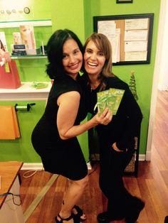 Pia Trujillo and Gina Dixon Pia day spa, customers Holiday party 2014