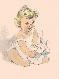 Baby with toy bunny | Flickr - Photo Sharing!