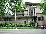 William G. Fricke House. Dining Room. Frank Lloyd Wright. 1902. Oak Park, Illinois. Prairie Style.