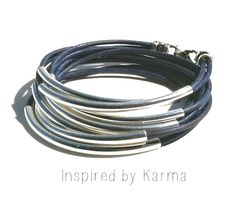 Leather Wrap Bracelet  - $30.00 - Handmade Jewelry, Crafts and Unique Gifts by Inspired by Karma #leatherbracelet #wrapbracelet #leatherwrapbracelet #uniquejewelry #handmadejewelry #uniquegifts