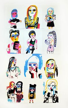 Hot girls and Hotdogs | Work | Jon Burgerman